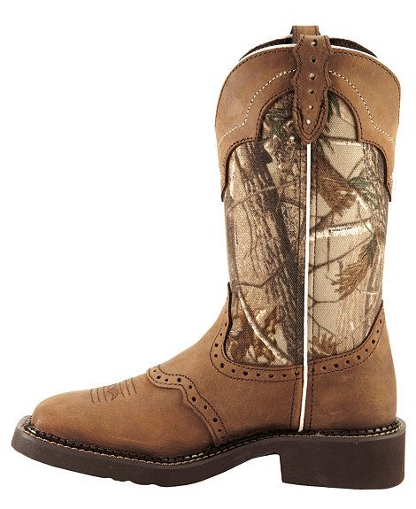 Justin Gypsy Real Tree Camo Cowgirl Boots - Square Toe | Things I ...