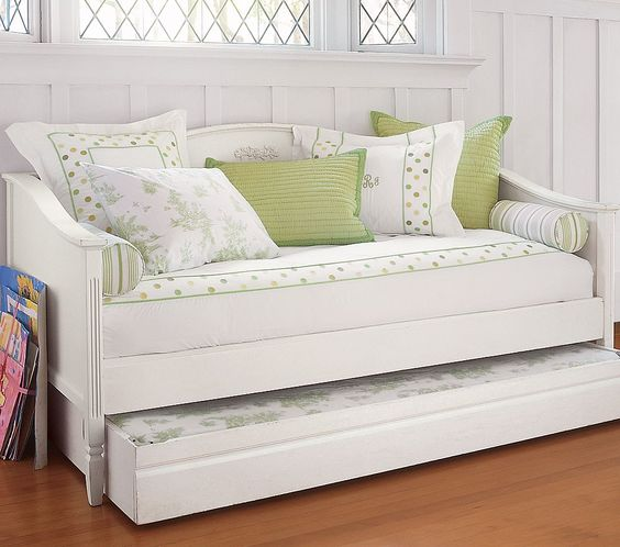 Daybeds - save space and look great! Trundle daybed, White daybed