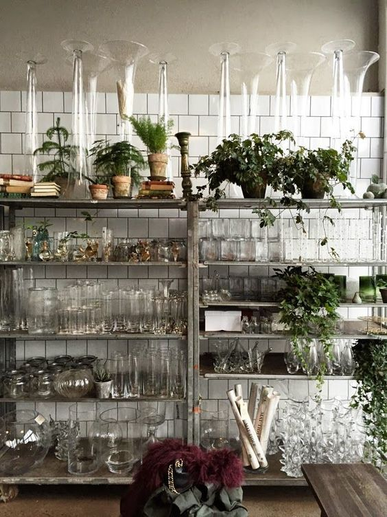 Flower Shop Design Ideas Vases Display And Glasses On Pinterest