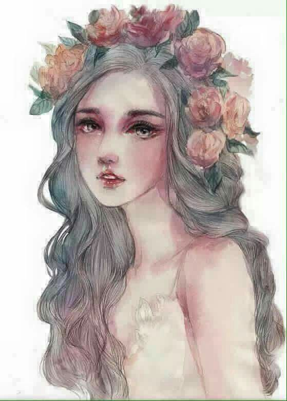 Watercolor Girl Painting Ideas