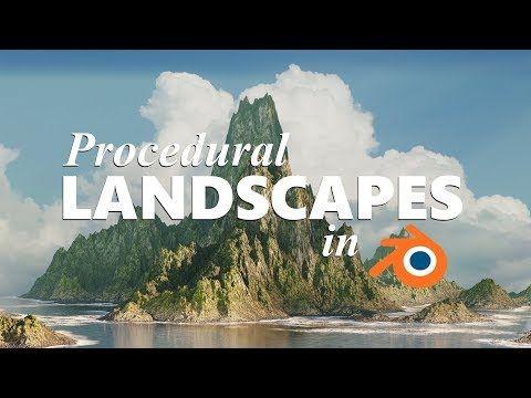 blender procedural landscape