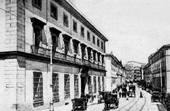 Palacio duquesa de Sonora,siglo XIX.Calle San Bernardo,actual Ministerio de Justicia.