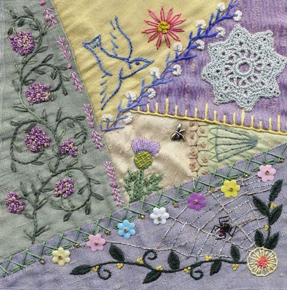 I ❤ crazy quilting & embroidery . . .  St Judes needlebook, I made for a friend. ~By Cathy B: