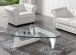 Mesa de centro moderna en madera solida y vidrio ref - Mesas de vidrio modernas ...