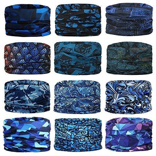 Magic Headwear Colored Stripes Outdoor Scarf Headbands Bandana Mask Neck Gaiter Head Wrap Mask Sweatband