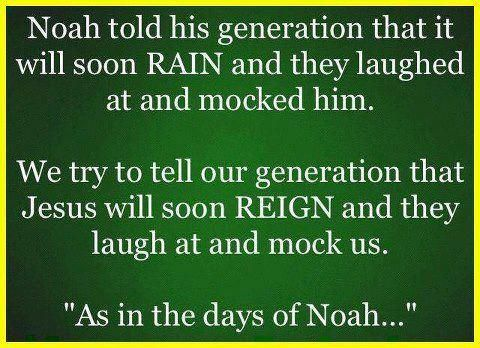 """Like the days of Noah & Lot..people believed in money, partying, etc. just like today and wouldn't listen! How about you? Jesus is coming back for His people..soon! """"What are the signs of the end times?"""" http://www.compellingtruth.org/signs-end-times.html"""
