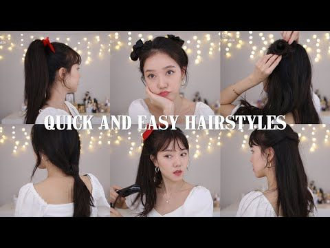 1 Quick And Easy Hairstyles Kpop Inspired Korean Hair Styles With 2 Bangs Youtube Korean Hairstyle Kpop Hair Korean Long Hair