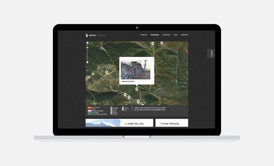 Disseny de la web del Refugi d'Estaon  amb geomapa inclòs #webdesign #diseñoweb @nibeda