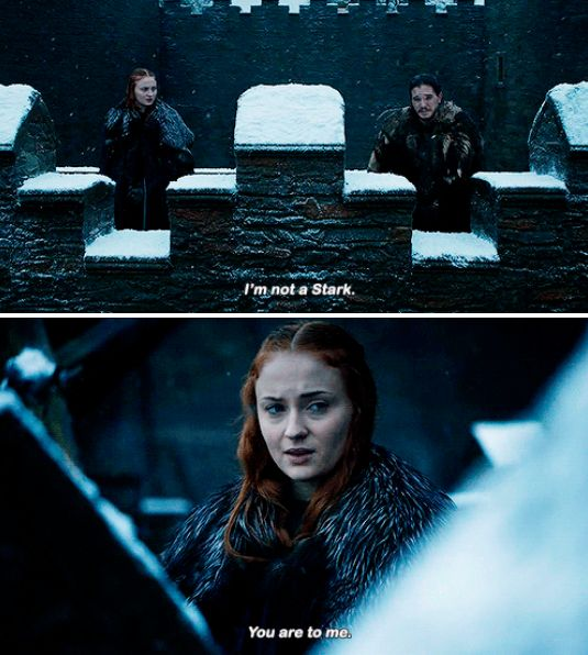 Sansa Stark, Jon Snow, Game of Thrones Season 6 The Winds of Winter
