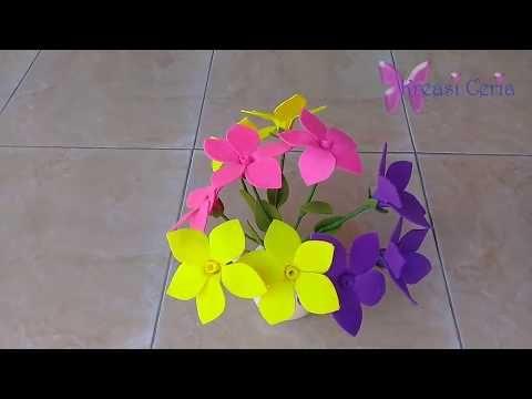 Cara Membuat Bunga Alamanda Dari Kain Flanel Youtube Kain Flanel Bunga Tulip Bunga