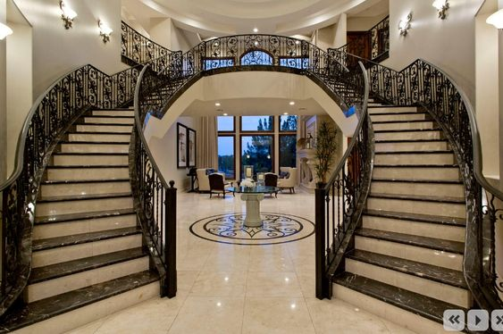 Pinterest the world s catalog of ideas for Double curved staircase