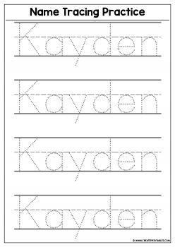 Preschool name tracing worksheets Wonderful