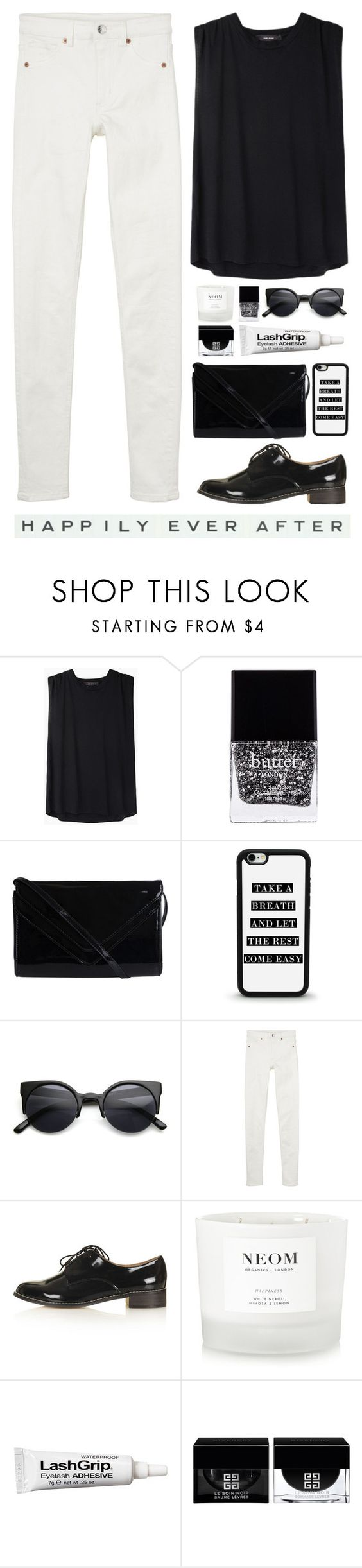 """""""Happily Ever After"""" by lolipop132 ❤ liked on Polyvore featuring Isabel Marant, Butter London, Pieces, Retrò, Monki, Topshop, NEOM Organics, Ardell, Givenchy and Vintage Playing Cards"""