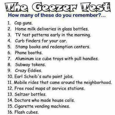 Geezer test