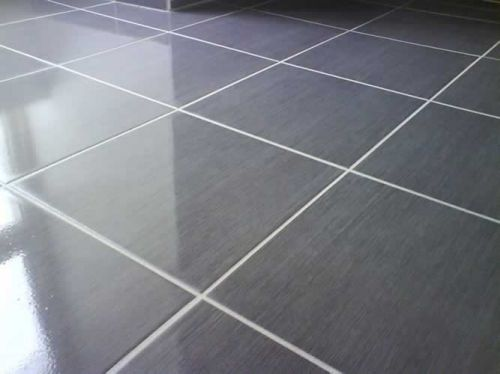Carrelage Gris Anthracite Et Joints Blanc Par Artisans Associes