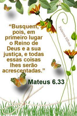 Promessas para hoje: Ajuste suas prioridades-Mateus 6.33: