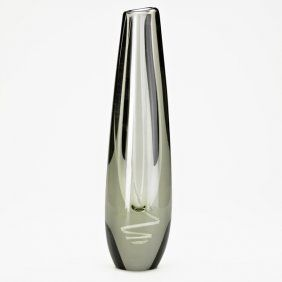 Gunnel Nyman Glass Serpentiini Vase