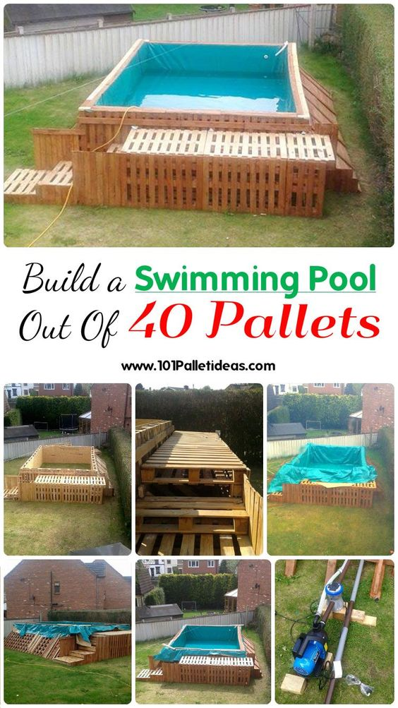 Build a swimming pool out of 40 pallets 101 pallet ideas for Make a swimming pool out of pallets
