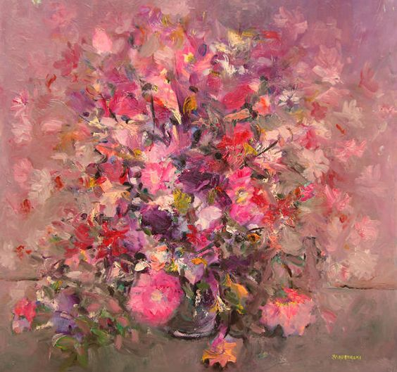 Mario Zamperdroni Pink Flower Bouqet