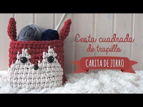 Cesta de trapillo carita de zorro - Foxy Basket - YouTube