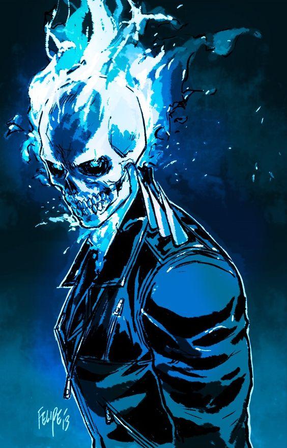 Ghost Rider, Danny Ketch, Johnny Blaze, Spirit of ...  Ghost Rider Spirit Of Vengeance Blue Fire