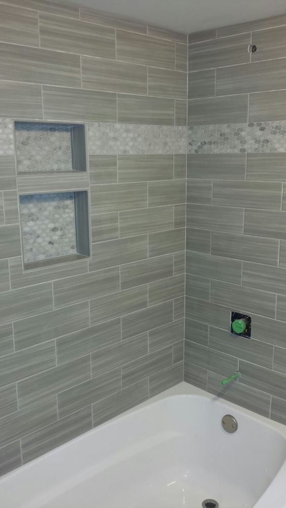 Bathroom Shower Niche Mosaic Border Linear Tile Subway