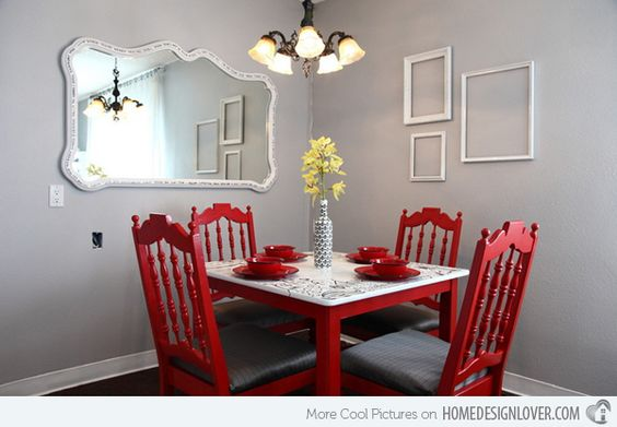 Small dining rooms small dining and dining rooms on pinterest for Small dining room 7 letters