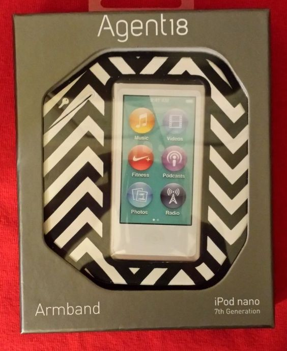 Agent18 Armband for iPod Nano 7th Gen - Black/White (N7AB/147) **New/Sealed**