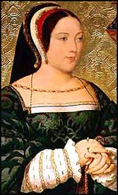 MARGARET TUDOR, QUEEN OF SCOTLAND, eldest daughter of Henry VII, king of England, by his wife Elizabeth, daughter of Edward IV, was born at Westminster on the 29th of November 1489.  She married James IV of Scotland on the 8th of August 1503. Through her, the throne of England passed to the Stuarts.