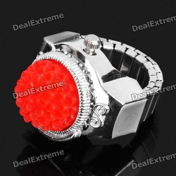 Retractable, one size fits most - Watchband Size: 1.8cm x 1.5cm - Dial Size: 1.5cm x 1.5cm - Display: Analog - Powered by 1 x 377 battery (included) - Water resistant (not for diving/swimming) - Fashionable design - Electronic movement http://j.mp/1totXrF