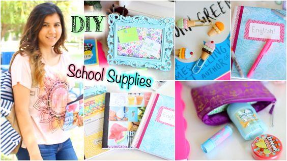 DIY School Supplies & Organization by Glitterglam95
