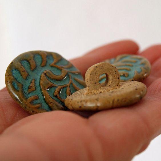 Boutons boutons en céramique à la main bouton à par jjpotterybeads