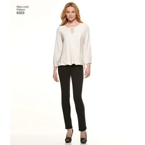 New Look Pattern 6303 Misses' Blouse with Length & Sleeve Variations