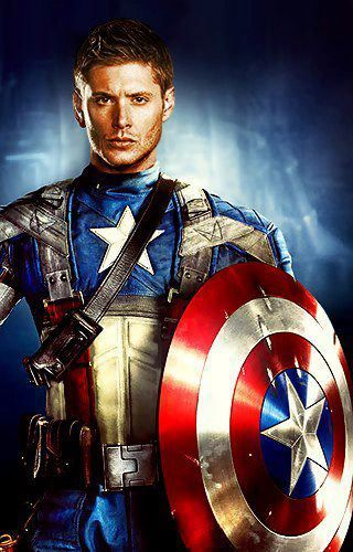Jensen Ackles as captain america