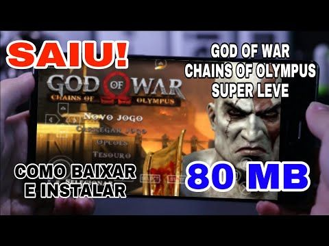 Novo God Of War Chains Of Olympus Super Leve 80 Mb De Ps2 Para