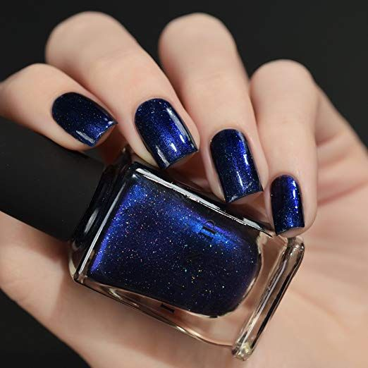 Amazon Com Ilnp Looking Up Midnight Blue Holographic Nail