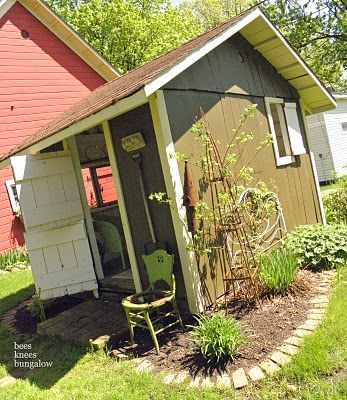 Pin by mrs jimmy page on converted sheds pinterest for Mini potting shed