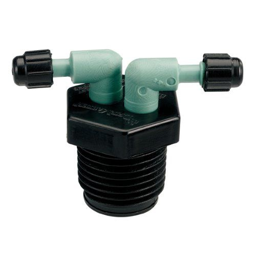 Orbit Drip System Shrub Adapter 4-Port Watering Manifold for 1//4 Inch Tube 2 Pack