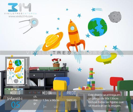 Vinilo 3 14 vinilos decorativos infantiles espacio - Estrellas decoracion infantil ...