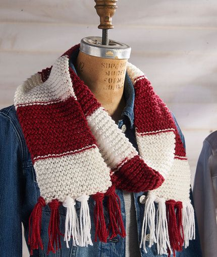 Knitting Patterns Red Heart Yarn : 17 Best images about Team Scarf Red heart yarn, Knitting ...