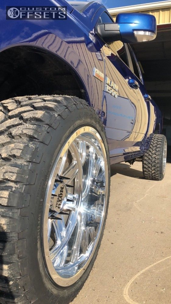 22x12 With 2 Inch Spacer 3 Lift Ram 1500 Car Wheel Spacer