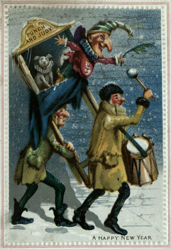 Victorian greeting card: