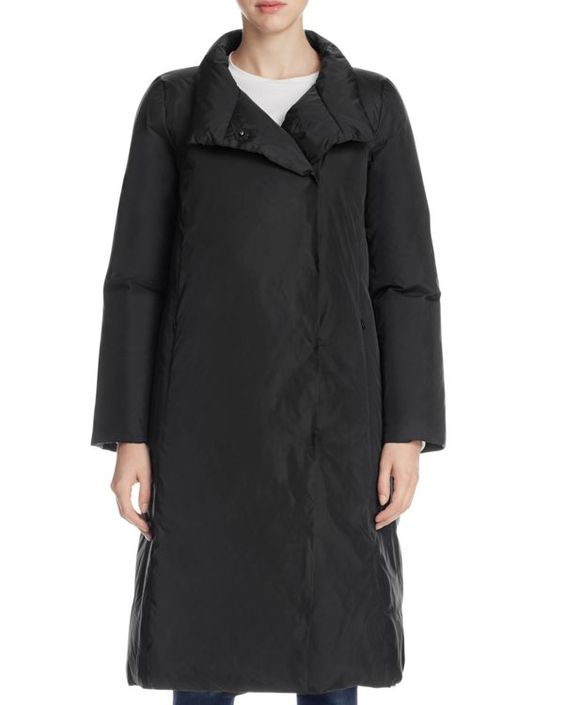 Eileen Fisher Stand Collar Down Coat