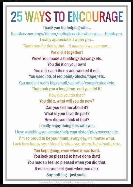 25 Ways To Encourage Encouragement Smart Parenting Sensitive Children