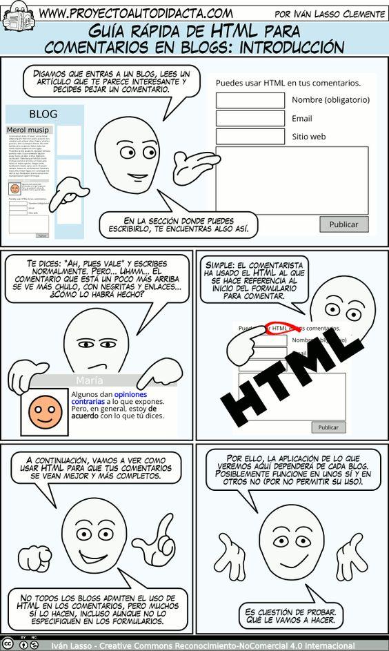 1: Guía rápida de HTML para comentarios en blogs: introducción