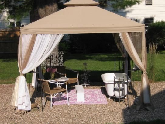 Hampton Bay 10 Ft X 10 Ft Outdoor Patio Arrow Gazebo Gghl00019 Gazebo Hampton Bay Outdoor Patio
