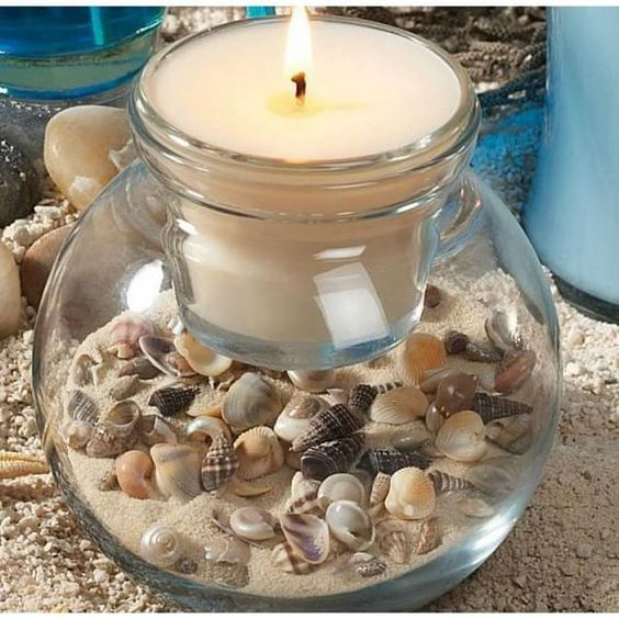 Manualidades con conchas marinas recordando la playa - Decoracion con conchas ...