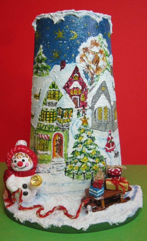 Omino di neve con slitta di Paola Verderio
