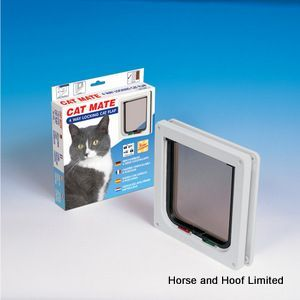 Cat Mate Cat Flap 4 Way Locking - Small Cat Mate Cat Flap 4 Way Locking Small is a draught weatherproof cat flap that gives you control over your cats whereabouts throughout the day.