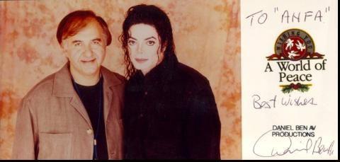 Michael und Mr. Daniel Ben Av, ehemaliger Präsident der ICM Company und Michael Jackson's Agent